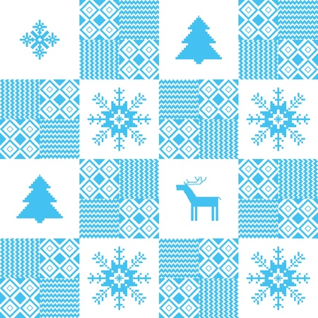 Christmas seamless background with traditional motives Stock Vector - 16435462