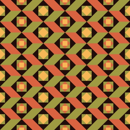 Abstract geometric seamless background retro style Stock Vector - 16435453