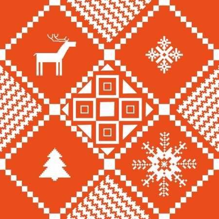traditional norway christmas ornamental knitted pattern stock vector 16435456