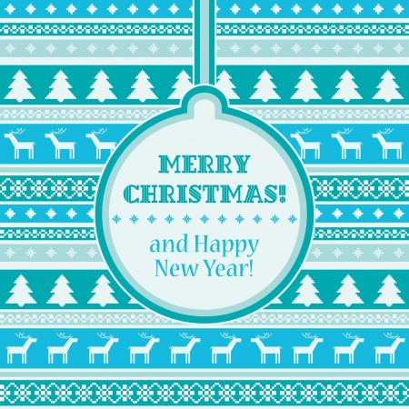 Christmas card decorative striped background Vector