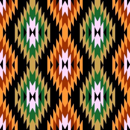 ikat: Ethnic abstract geometric pattern ikat ornament Illustration