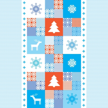 Christmas background template for design with traditional motives Stock Vector - 16702165