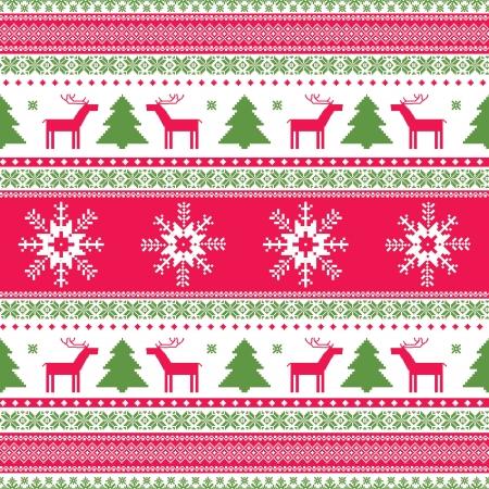 sweater: Christas tradicional patr�n ornamental de punto