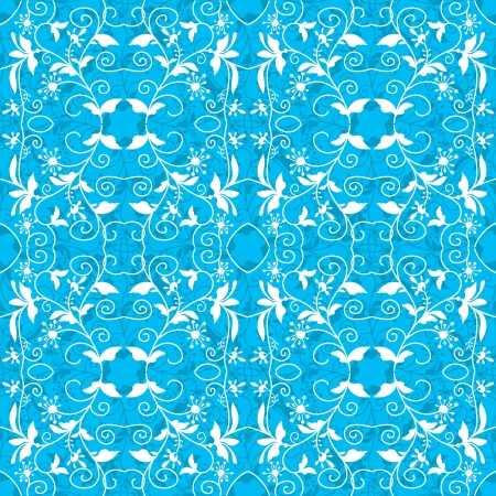 Ornamental floral seamless background in blue and white Stock Vector - 16702166