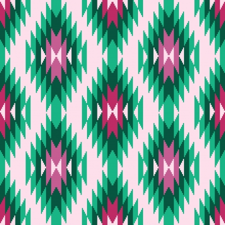 Ethnic abstract geometric seamless pattern asian ikat ornament