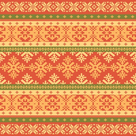 fair isle: Knitted background Christmas seamless pattern Illustration