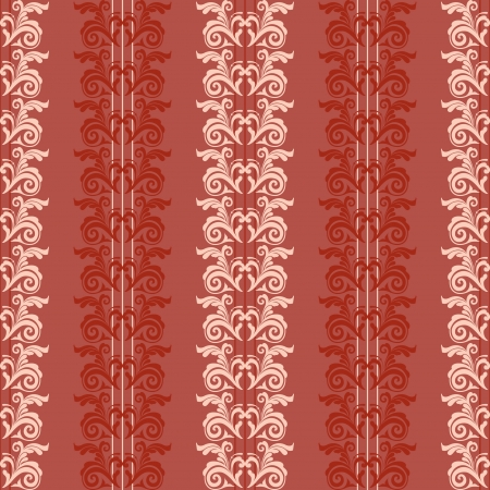 Red classic seamless wallpaper retro  background Stock Vector - 16966642