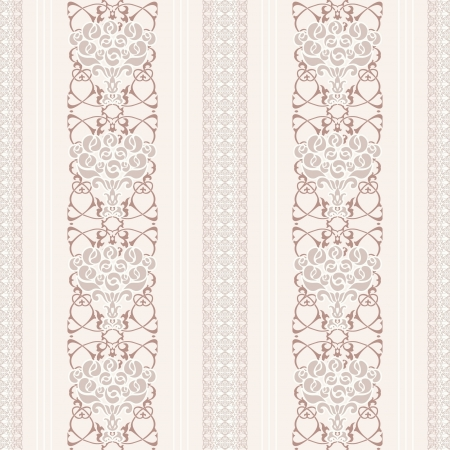 Light classic seamless wallpaper with bouqet of roses Stock Vector - 16969155