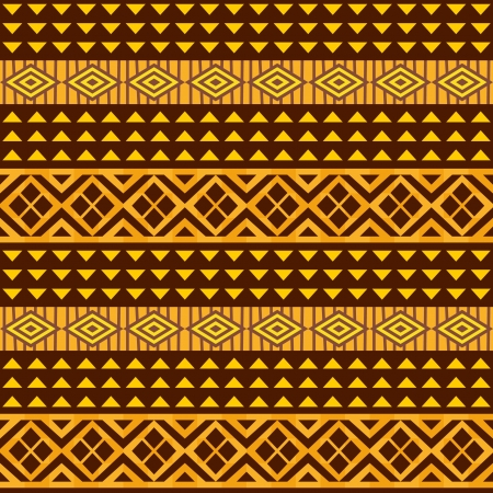 African geometric ornament, seamless background Vector