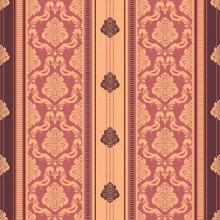 Classic floral striped seamless wallpaper Stock Vector - 17375772