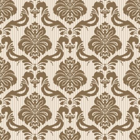 古典的な壁紙シームレスな装飾的なパターン