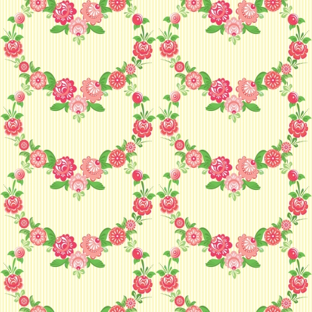 Classic floral wallpaper with decorative flowers Stock Vector - 17410798