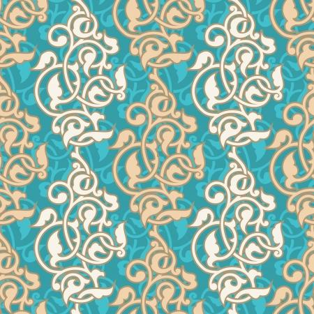 to continue: Arabesque incons�til del modelo ornamental Vectores