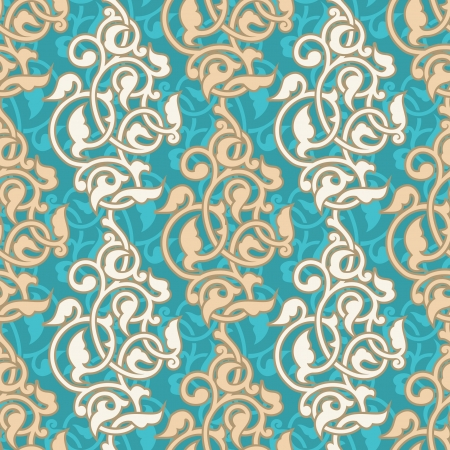 Arabesque ornamental seamless pattern