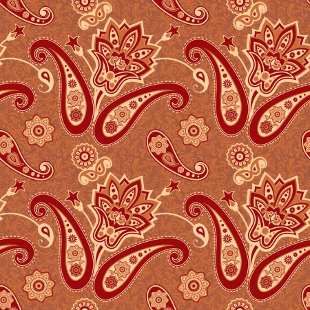 Seamless rnamental floral paisley pattern Stock Vector - 17773679