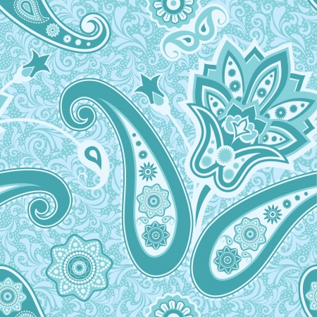 Ornamental floral seamless pattern with paisley Vector