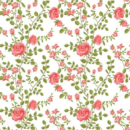 Naadloos patroon van bloeiende rozen