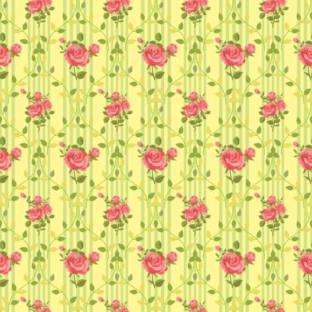 elegantly: Blooming rose vintage wallpaper