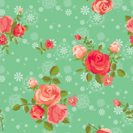 Blooming roses seamless pattern Stock Vector - 18218943