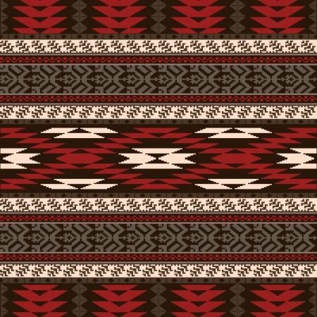 Etnische traditionele inheemse Amerikaanse stijl textiel naadloze patroon