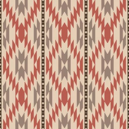 Ethnic american navajo inspired rug seamless pattern Vector