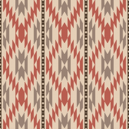 Ethnic american navajo inspired rug seamless pattern