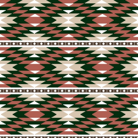 Geometric ornamental abstract ethnic seamless background Vector