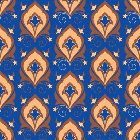 floral pattern motif: Ornamental asian seamless pattern Illustration