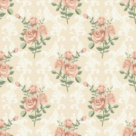 elegantly: Rose vintage seamless pattern