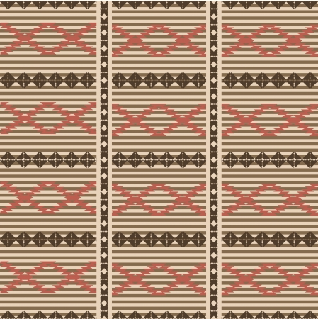 Rug pattern etnic seamless ornamental backgrouns Vector