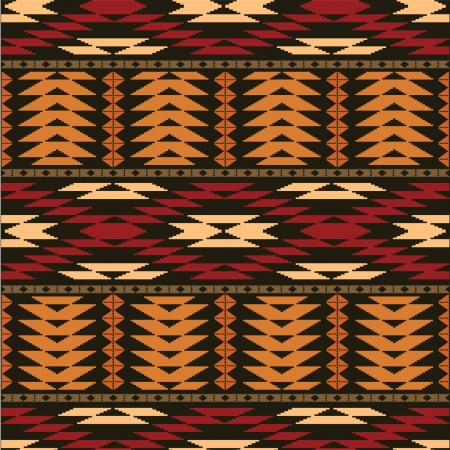 Ethnic geometric ornamental seamless background Vector