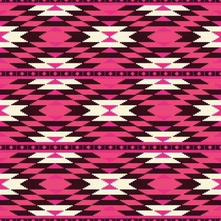 navajo: Ethnic geometric seamless pattern Illustration