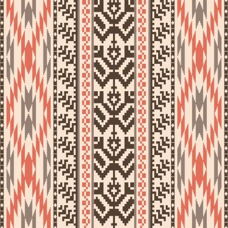 этнический: Этнические текстильной декоративной ornamenral полосатый узор бесшовные Иллюстрация