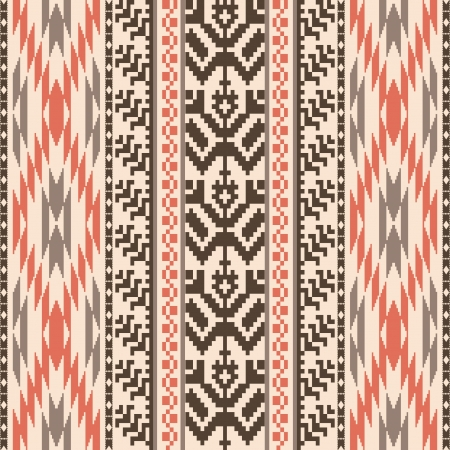 Ethnic textile decorative ornamenral striped seamless pattern