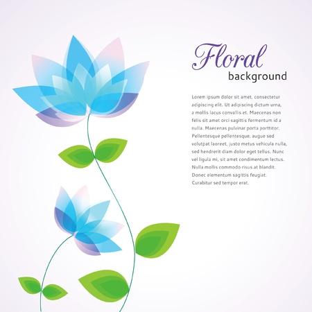 Bloemen achtergrond decoratieve bloemen en plaats voor tekst