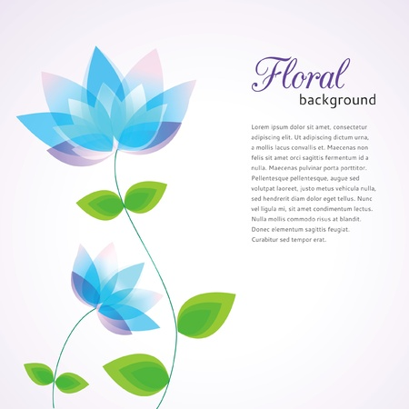 lotus: Floral background decorative flowers and place for text