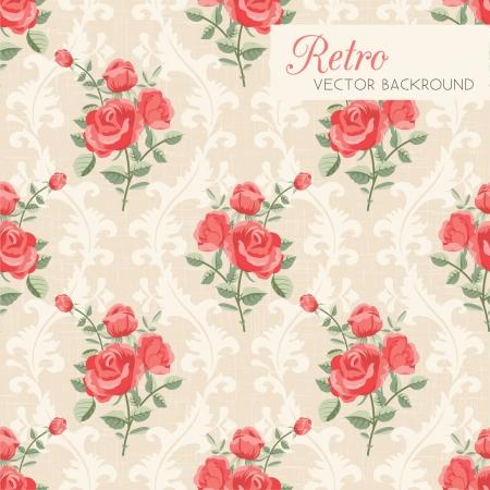 damast: Rose klassische seamless floral pattern Illustration