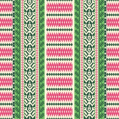 Textile ornamental striped seamless pattern Vector