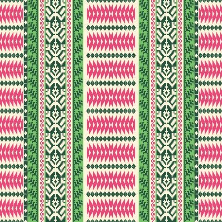 woven: Textile ornamental striped seamless pattern Illustration