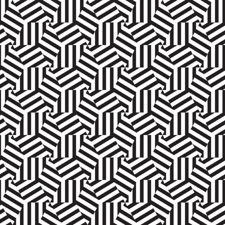 Abstract geometrisch patroon op art in zwart en wit
