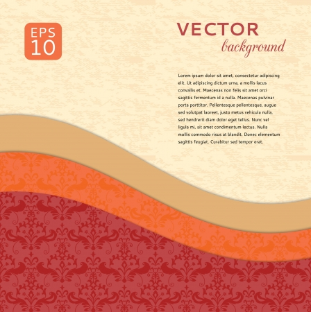 Ornamental abstract background paper wave Stock Vector - 18756345