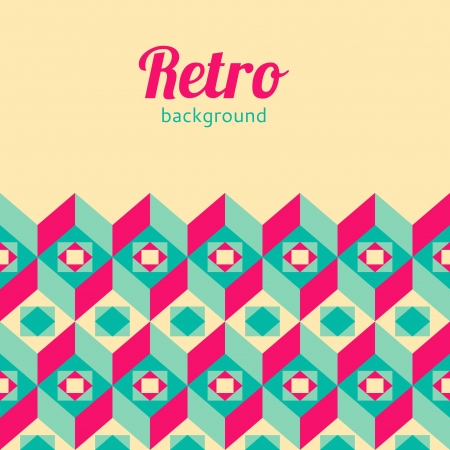 Retro geometric background Vector