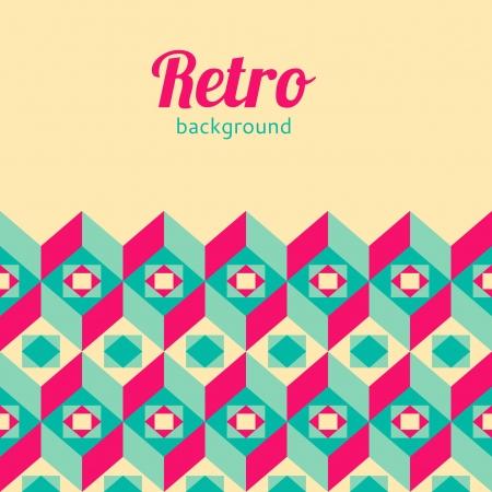 geometrical: Retro geometric background
