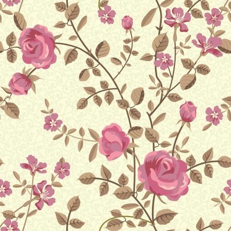 Bloemen naadloos patroon van bloeiende rozen
