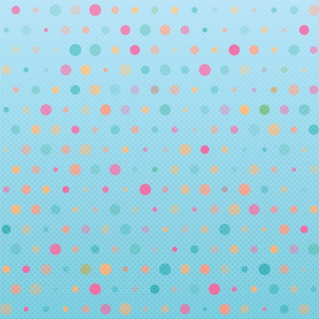 Polka dot retro background
