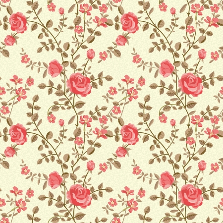 floral fabric: Roses pattern Illustration