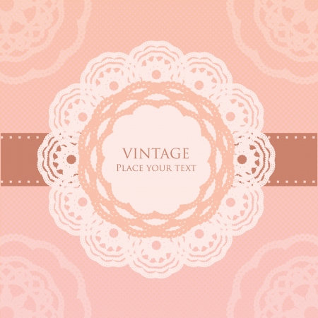 doily: Vintage card template