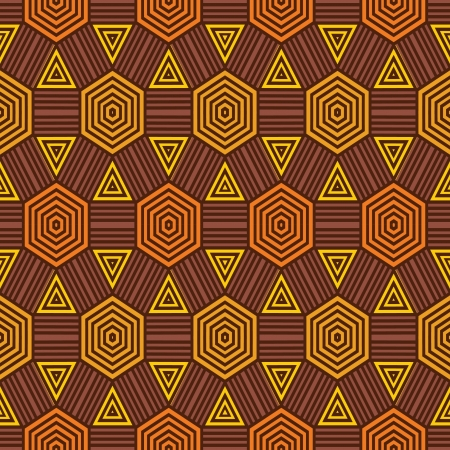 African fabric pattern Vector