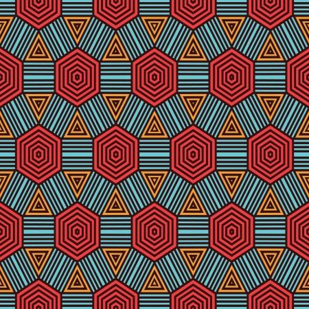 ilustraciones africanas: Patr�n geom�trico Retro Vectores