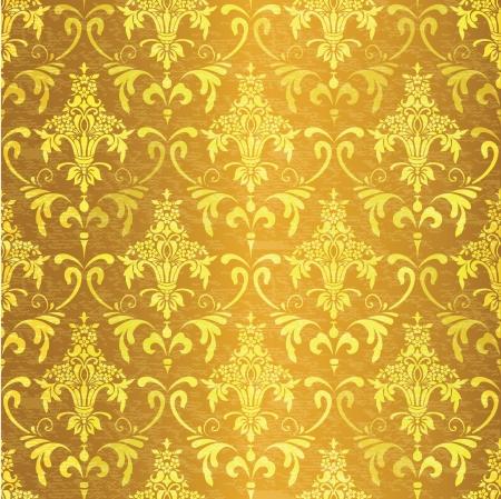 brocade: Ornamental vintage seamless background